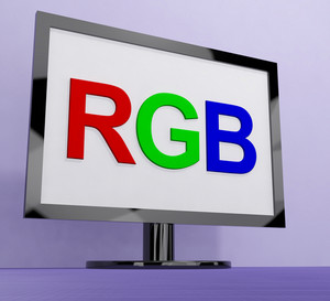 Rgb Screen For Television Or Computer Monitor