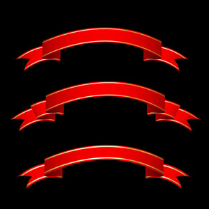 Ribbon Banners Vector Set