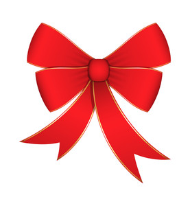 Ribbon Bow Vector Element
