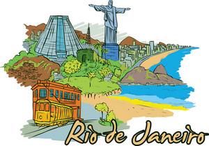 Rio De Janeiro Vector Doodle