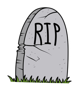 Rip - Grave Cartoon - Halloween Vector Illustration