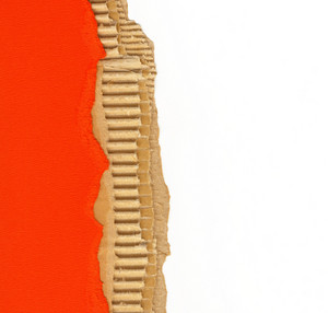 Ripped Recycled Cardboard Background Texture-