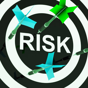 Risk On Dartboard Shows Unsafe