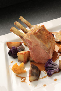 Roast Rack Of Lamb Plated Dinner