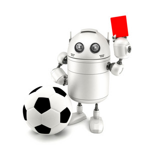 Robot Playing Soccer