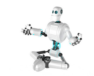 Robot Sitting In Lotus Position
