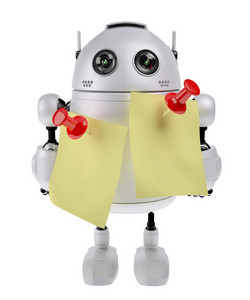 Robot With Adhesive Note