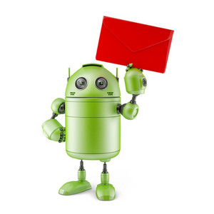Robot With Envelope.