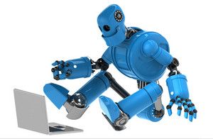 Robot With Laptop