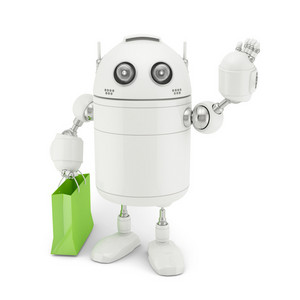Robot With Shopping Bag