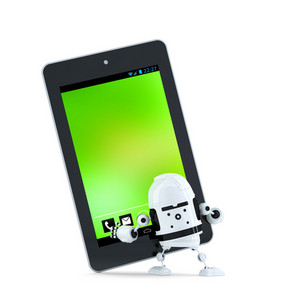 Robot With Tablet Pc