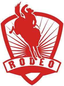 Rodeo Cowboy Bucking Bronco