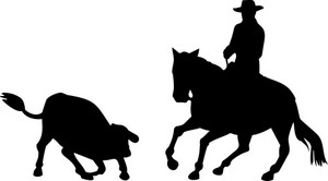 Rodeo Cowboy Horse Riding Silhouette