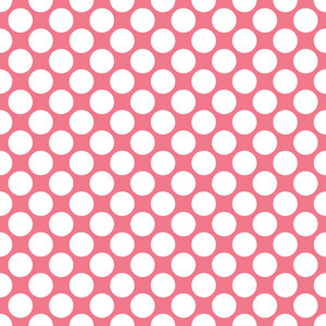 White Polka Dots Pattern On A Romantic Pink Background