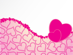 Romantic Background With Set Of Hearts