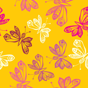 Romantic Butterfly Seamless Pattern.