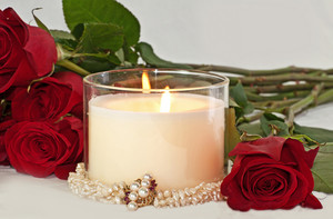 Romantic Candles & Rose