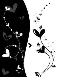 Romantic Day Greeting Card Illustration
