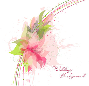 Romantic Flower Background. Ideal For As A Wedding Background
