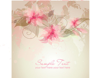 Romantic Flower Background-