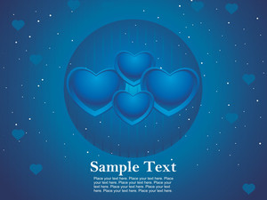 Romantic Heart-shape With Blue Background