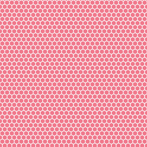 Romantic Pink And White Chain Link Pattern
