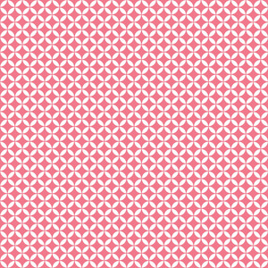 Romantic Pink And White Circles Pattern