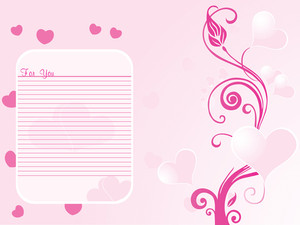 Romantic Pink Floral Design Background