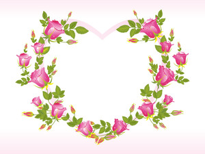 Romantic Pink Heart Shape Frame