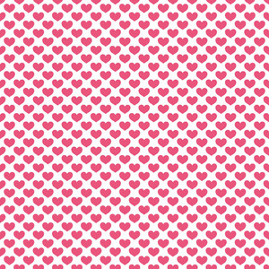 Romantic Pink Hearts Pattern On A White Background