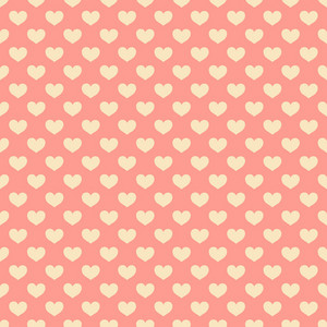 Romantic Pink Hearts Pattern