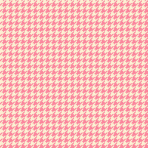 Romantic Pink Houndstooth Pattern