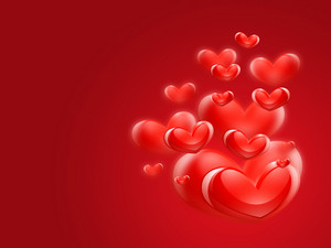 Romantic - Red Hearts Background