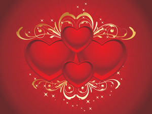 Romantic Red Love Background