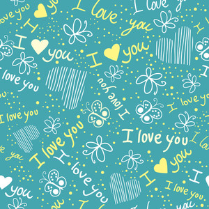 Romantic Seamless Pattern With Hearts
