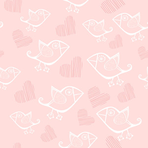Romantic Seamless Pattern.