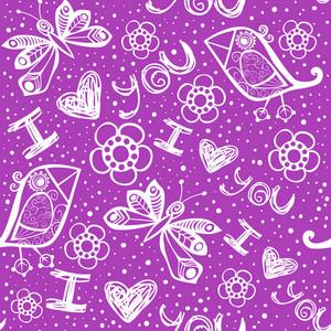 Romantic Seamless Pattern.
