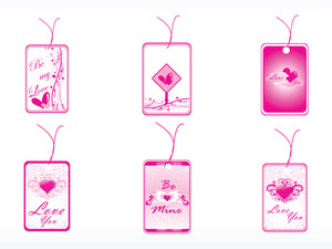 Romantic Tag With Heart Logo Set_2