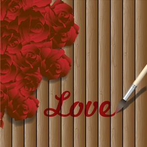 Romantic Wooden Background
