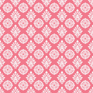 Romantic Pink And White Decorative Pattern