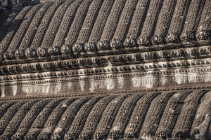 Roof Angkor Wat inside detail. Cambodia
