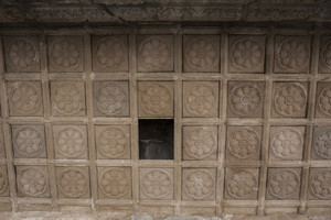 Rooftop of Angkor wat with hole detail