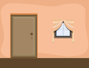Room Interior - Cartoon Background Vector
