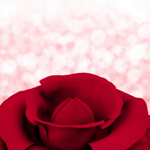Rose With Bokeh Background For Womens Birthday Or Valentines