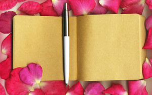 Rosepetal With Notebook.