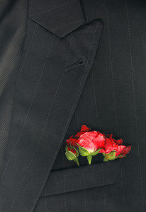 Roses On Suit Jacket