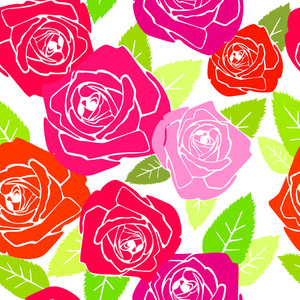 Roses. Seamless Vector Pattern