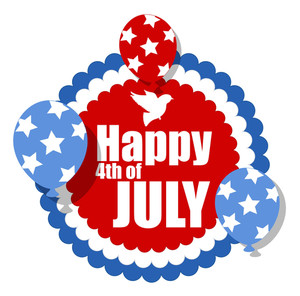 Rosette Shape Banner 4th Of July Vector
