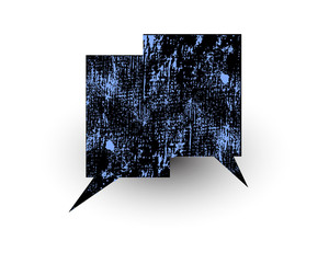 Rough Banner Chat Bubble