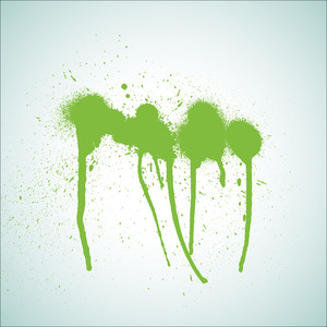 Rough Green Paint Spray